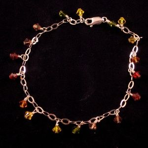 Autumn Inspired .925 Silver & Crystal Bracelet